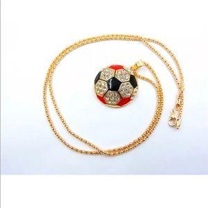 Jewelry - Rhinestone soccer ball ⚽️ Necklace